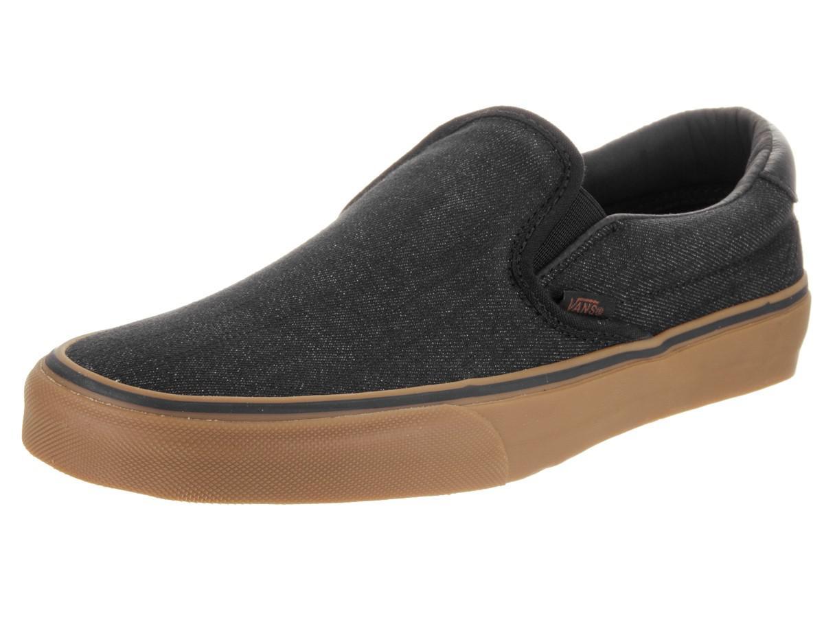 7eb894f7f3 Lyst - Vans Unisex Slip-on 59 (denim C l) Black gum Skate Shoe 7.5 ...