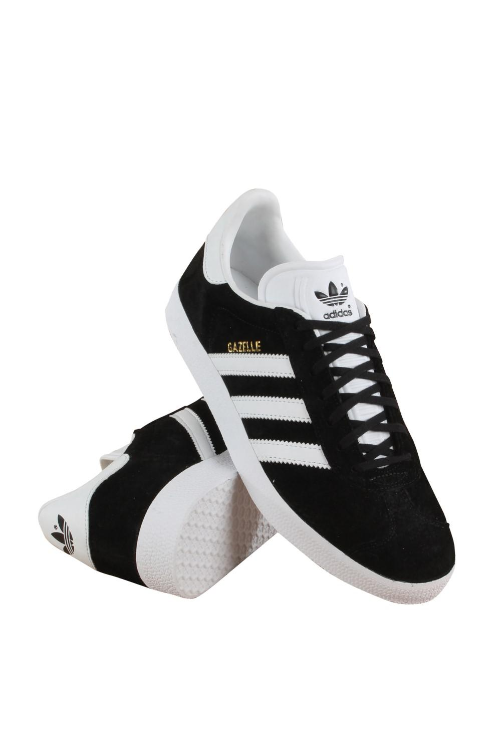 promo code 94650 0bfb2 adidas Bb5476  Originals Black white gold Metallic Gazelle Lace-up ...