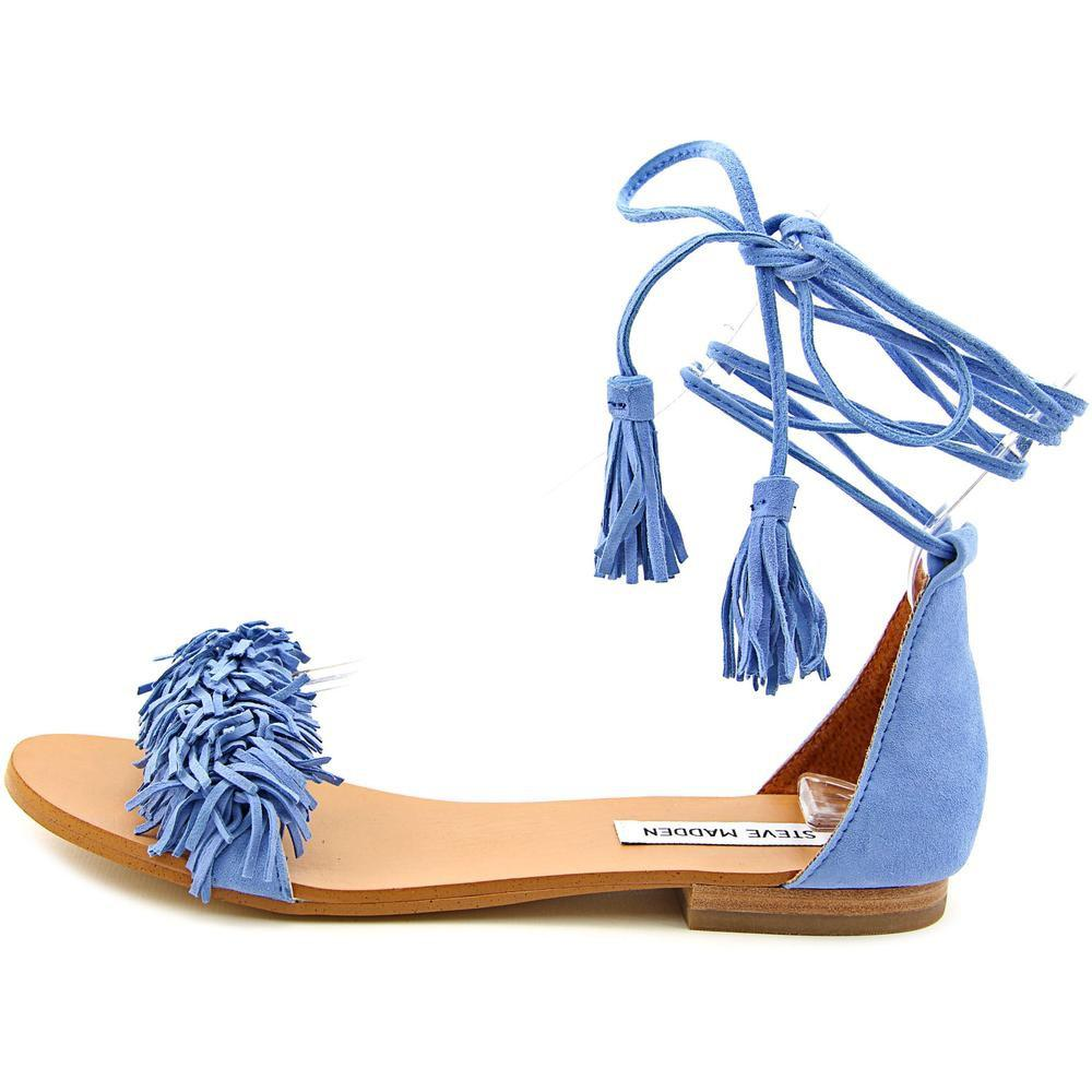 de7810f75df Lyst - Steve Madden Sweetyy Women Open Toe Suede Blue Gladiator ...