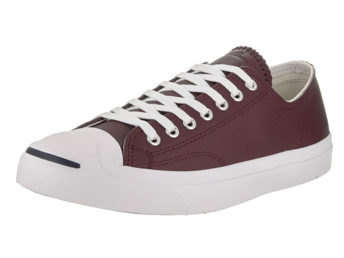 Converse. Purple Unisex Jack Purcell Jack Ox Deep Bordeaux/buff/white Casual  ...