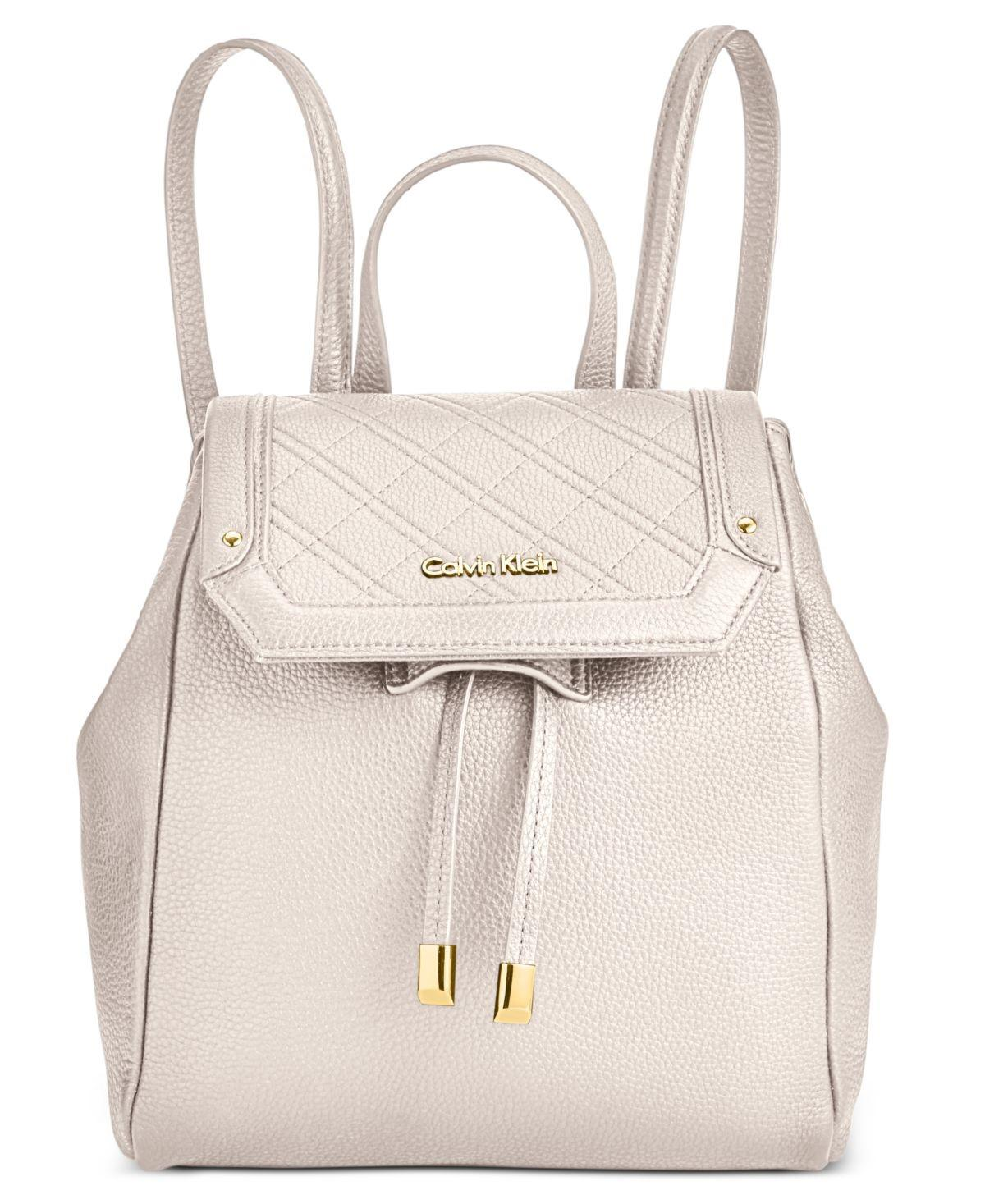 bd36c02cb3f CALVIN KLEIN 205W39NYC Permanent Quilted Pebble Backpack in White - Lyst