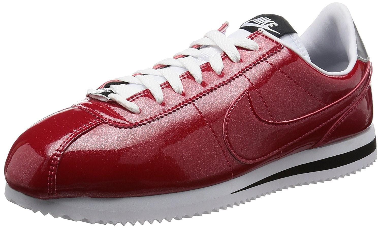 Lyst - Nike Mens Cortez Basic Premium Qs Gym Red white-silver 819721 ... 32e1b5268