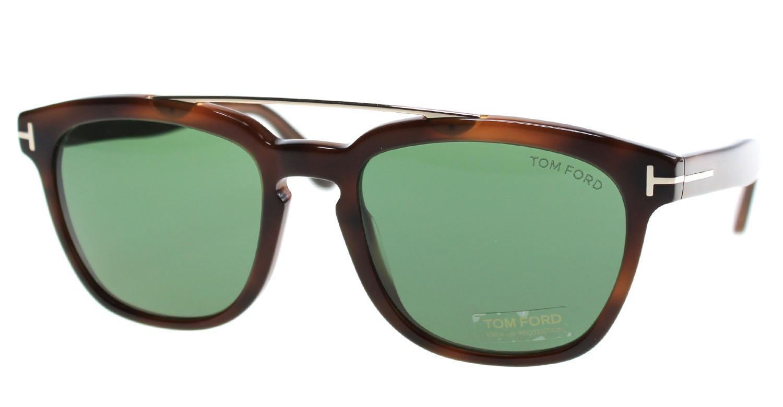 ce056010e6f Tom Ford - Brown Sunglasses Ft 0516 Holt 53n Blonde Havana   Green - Lyst.  View fullscreen