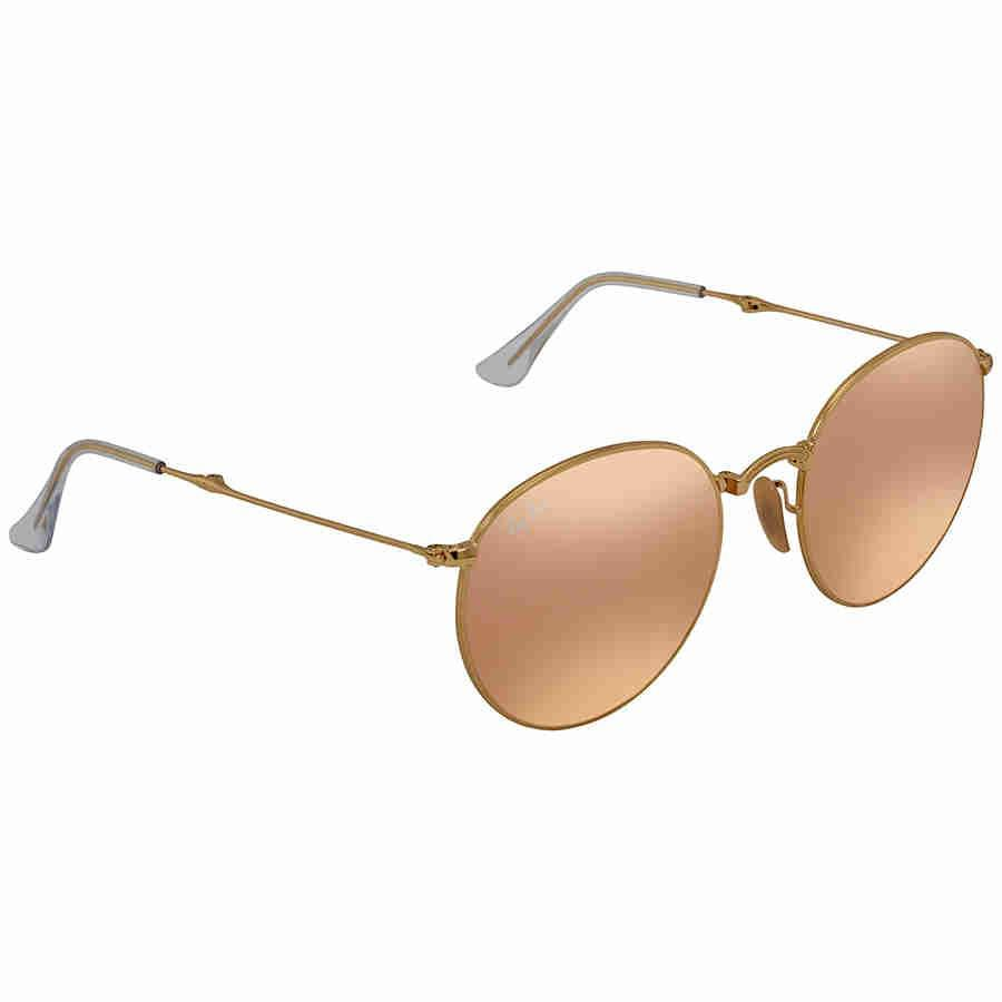 b16751bc95a0 Lyst - Ray-Ban Ray Ban Copper Flash Round Sunglasses Rb3532 001 z2 ...