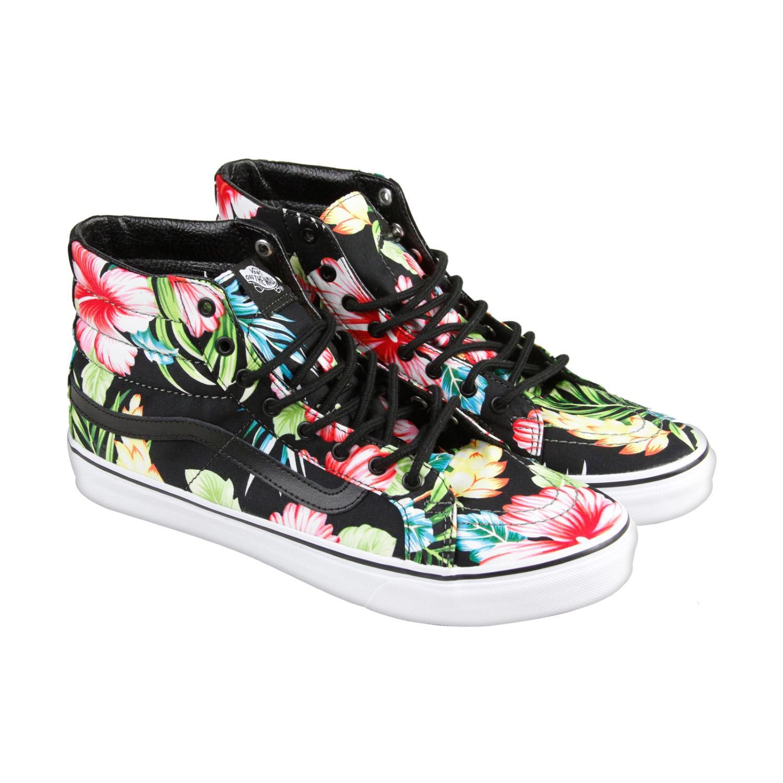 8a6aa0f8e8 Lyst - Vans Hawaiian Floral Black Mens High Top Sneakers in Black ...
