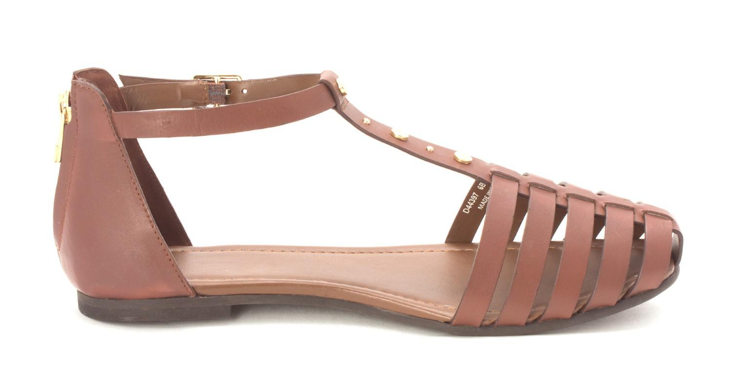 0a2846846df Lyst - Cole Haan Covered Flat Sandal Closed Toe Casual Ankle Strap ...