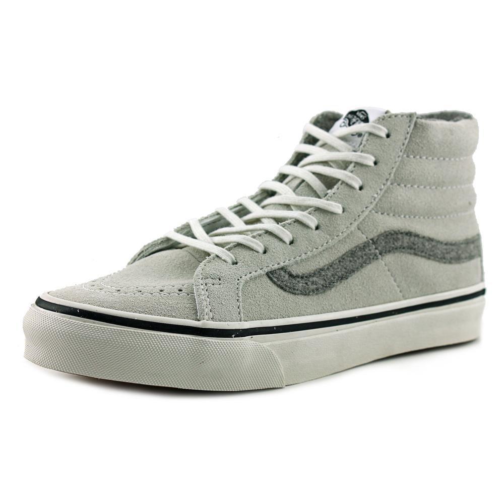 49be67fd705dc Lyst - Vans Sk8-hi Slim Round Toe Suede Sneakers in White
