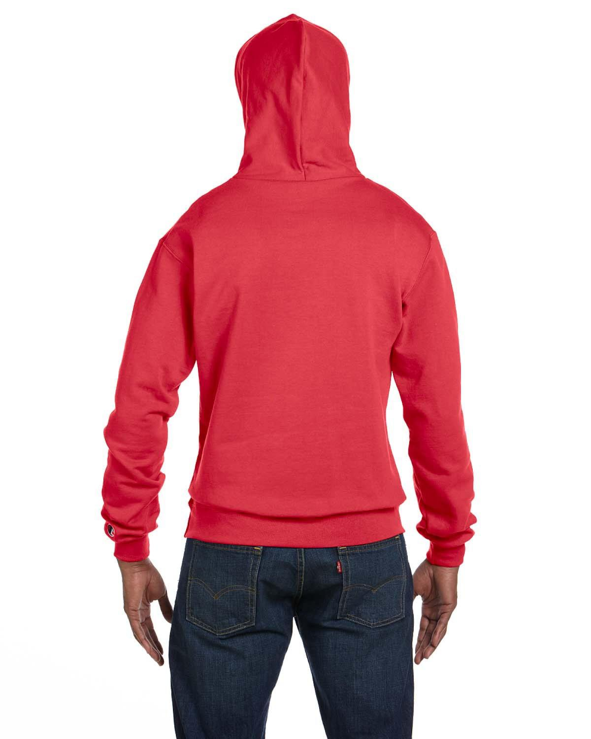898ae474a5ef Lyst - Champion Double Dry Action Fleece Pullover Hood in Red for Men -  Save 21.05263157894737%
