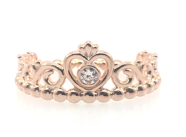 57c9f72fd Lyst - PANDORA 180880cz-58 Rose My Princess Tiara Clear Cz Ring in Pink