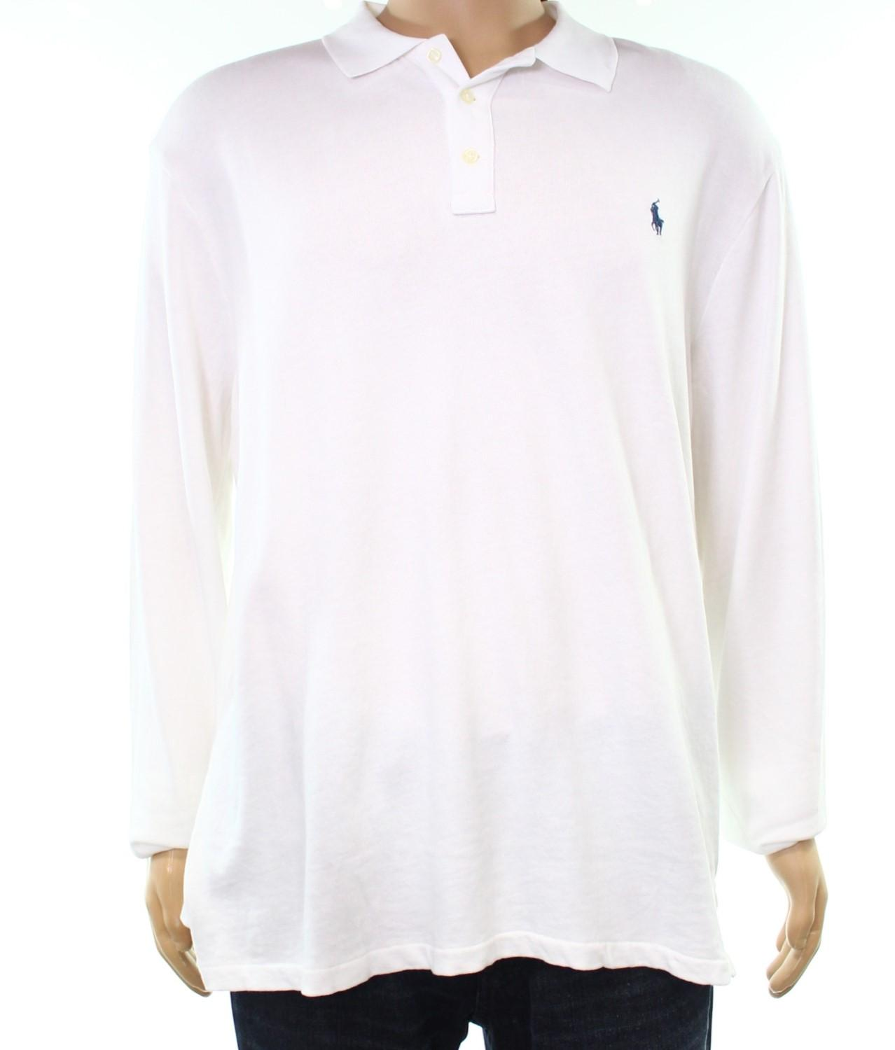 cd9a52abc582 Lyst - Polo Ralph Lauren French Terry Long Sleeves Polo Shirt in ...