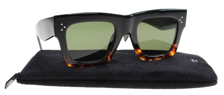 60e5bbdc6a Céline Sunglasses 41054  s 0fu5 Havana Tortoise   1e Green Lens in ...