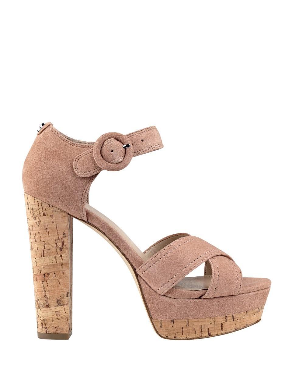 573033c4915d Lyst - Guess Parris Platform Sandals in Pink - Save 56%