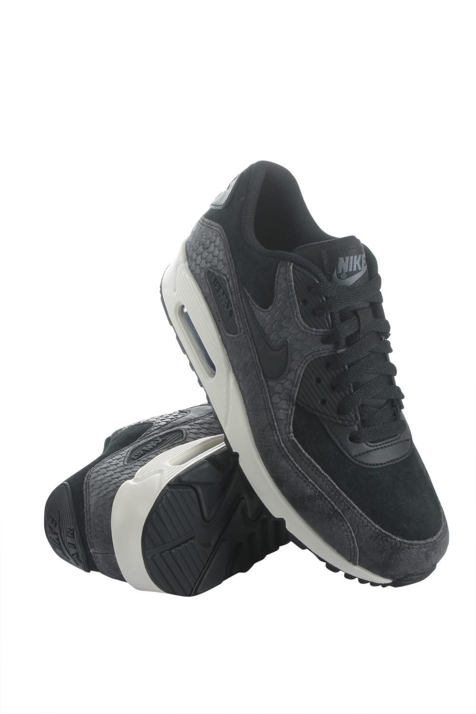 brand new 519fe ca98e Nike 896497-005 Women Wmns Air Max 90 Prm Black/black-sail-dark Grey ...