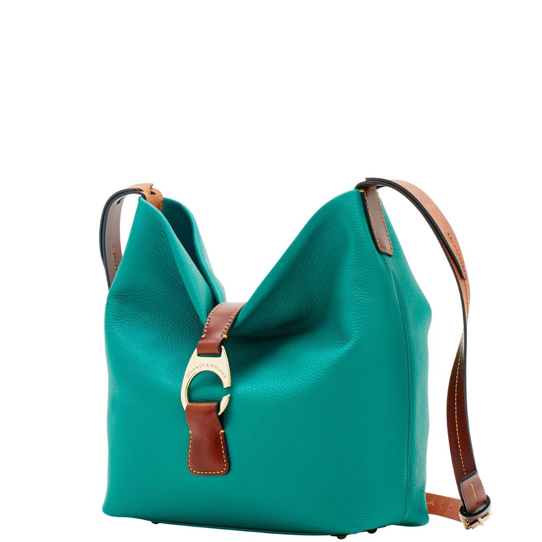 Lyst - Dooney   Bourke Derby Pebble Crossbody Hobo Shoulder Bag 9538ddef0e736
