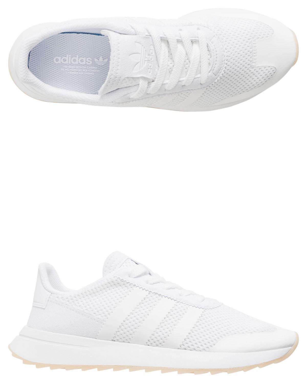 Lyst adidas flashback w un'impronta di scarpa pu bianco in bianco.