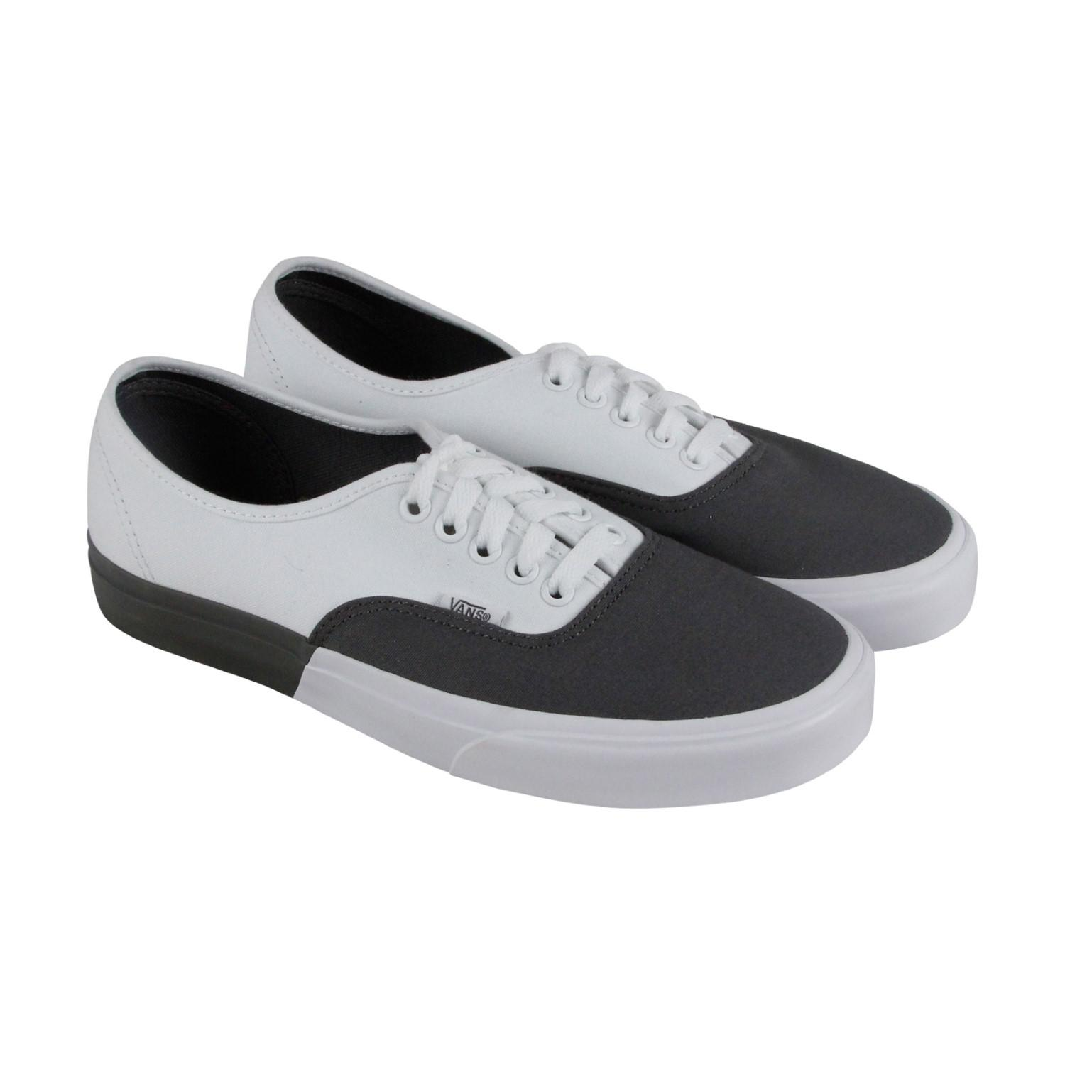 9b5f540303 Lyst - Vans Authentic Pewter True White Lace Up Sneakers in Gray for Men