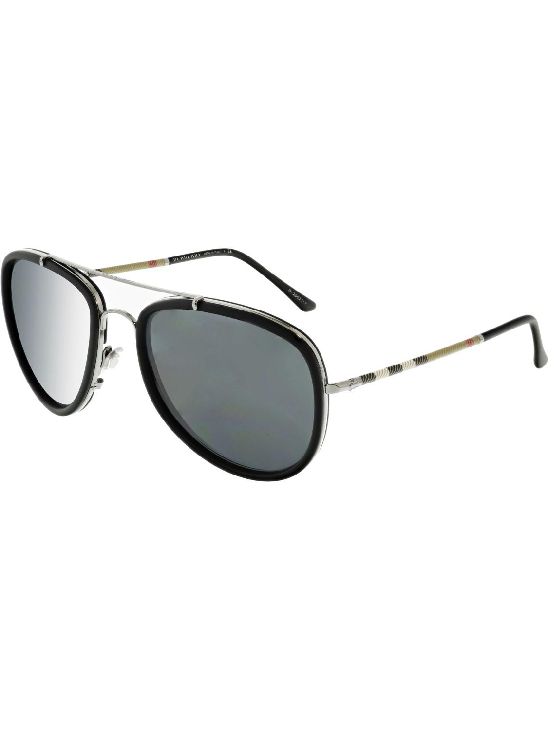 1c3330f2740c Lyst - Burberry Aviator Sunglasses in Black - Save 5%