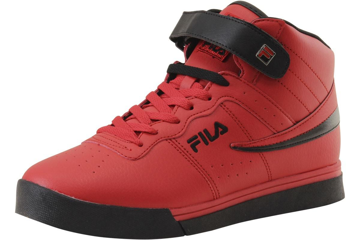 54b310f26238 Lyst - Fila Vulc 13 Mid Plus Red black Sneakers Shoes Sz  9.5 in Red ...