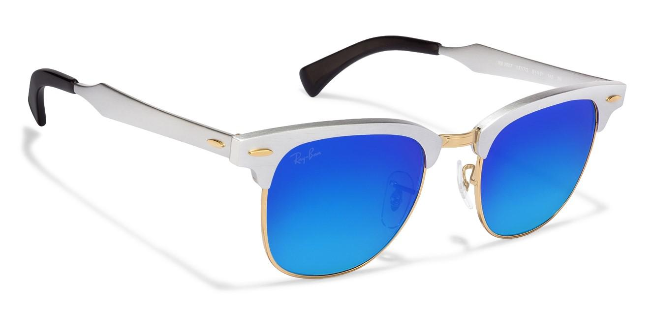 Lyst - Ray-Ban 0rb3507 137 7q 49 Brushed Silver blue Flash Gradient ... adffe2577c