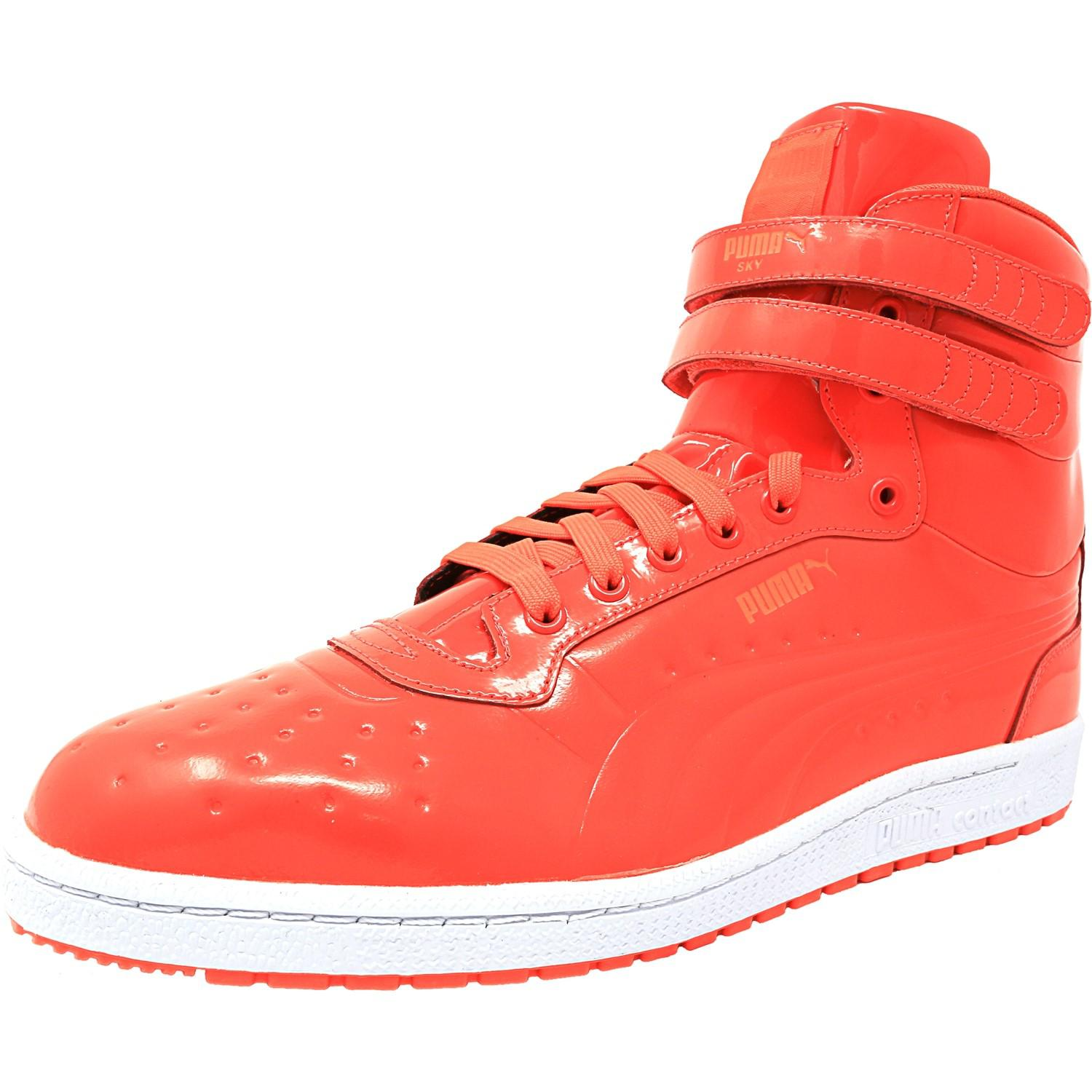 60daefc484e7 PUMA Sky Ii Hi Patent Emboss Red Blast High-top Fashion Sneaker in ...