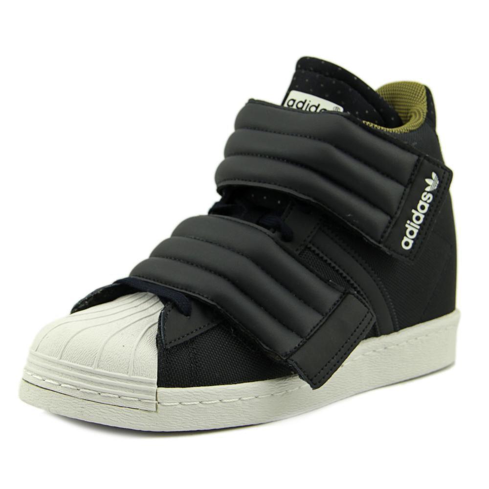 Adidas The Superstar Up Strap Hidden Wedge Sneaker In Black Lyst