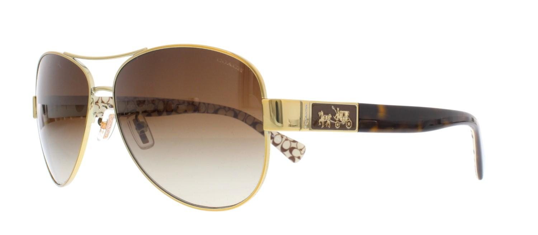 1cb406d8c9e8 COACH Sunglasses Hc 7047 920213 Gold Dark Tortoise Sand 59mm - Lyst