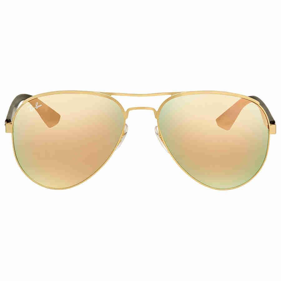 a81df86fb74 Lyst - Ray-Ban Ray Ban Copper Mirror Sunglasses Rb3523 112 2y 59