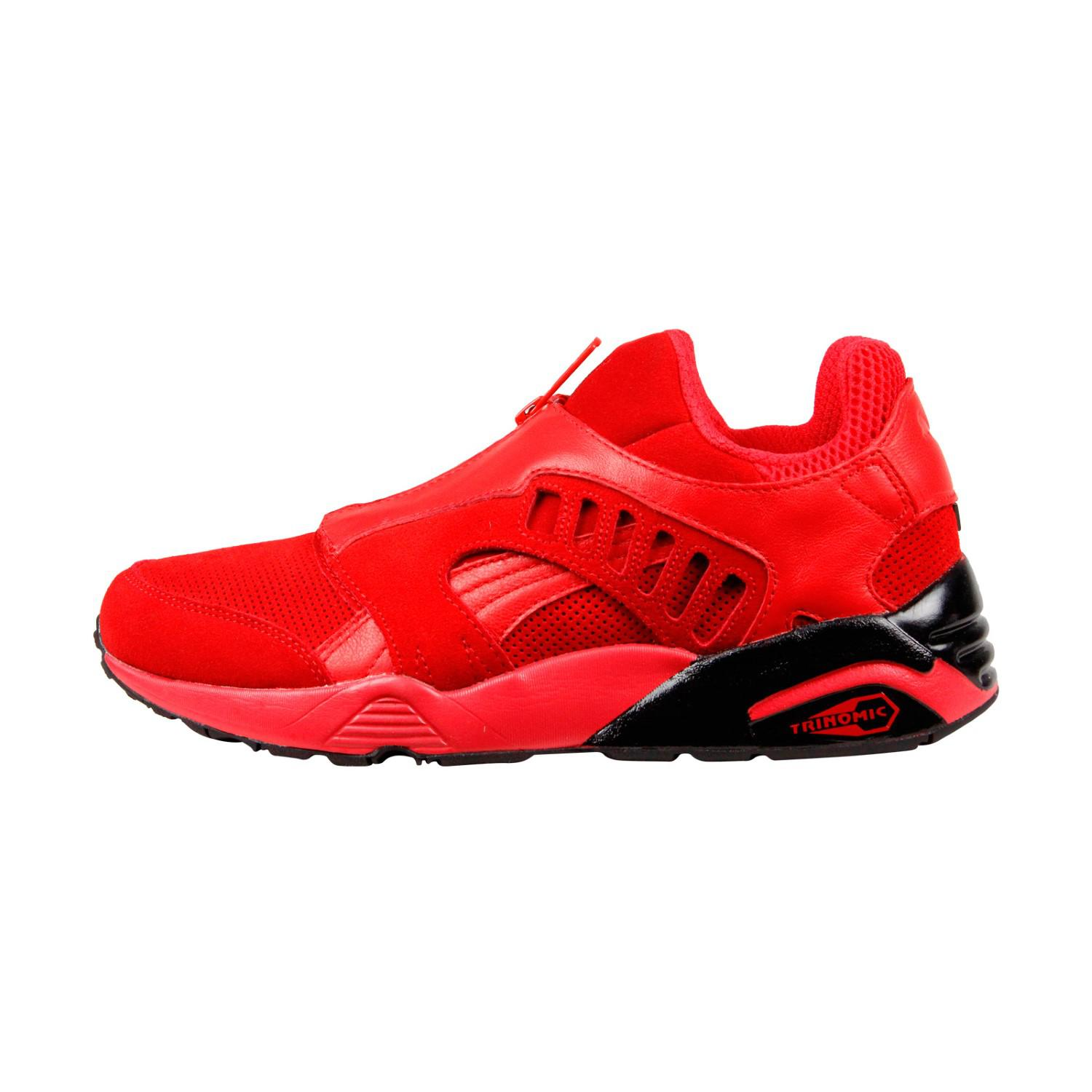 362338663b2 Lyst - PUMA Trinomic Zip High Risk Red Black Mens Lace Up Sneakers ...