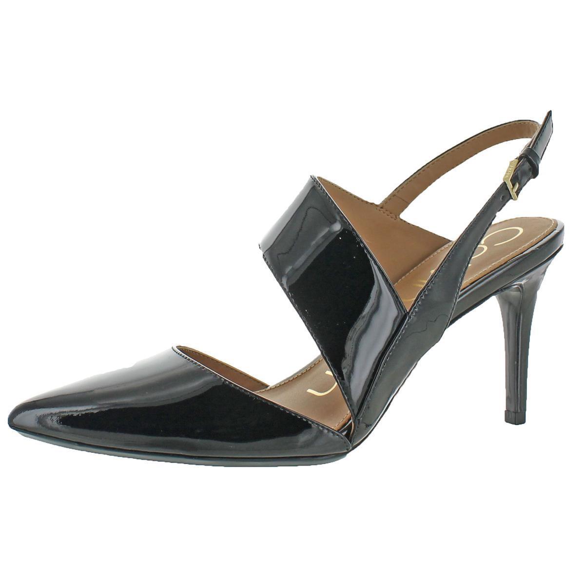 47eeeb72014 Lyst - Calvin Klein Gianna Leather Slingback Heeled Sandal Shoes in ...