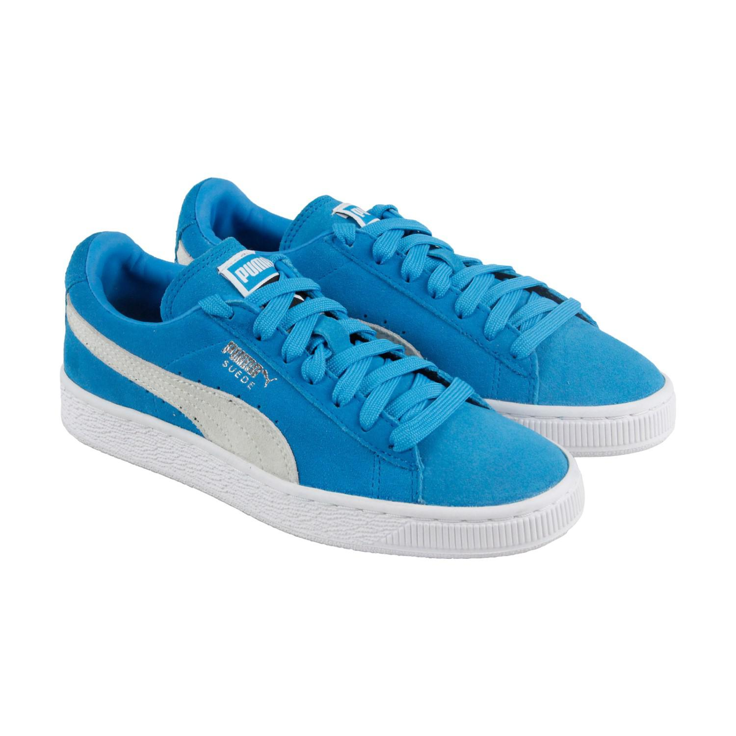 c2b40ef183d PUMA Suede Classic + Blue Danube White Lace Up Sneakers in Blue for ...