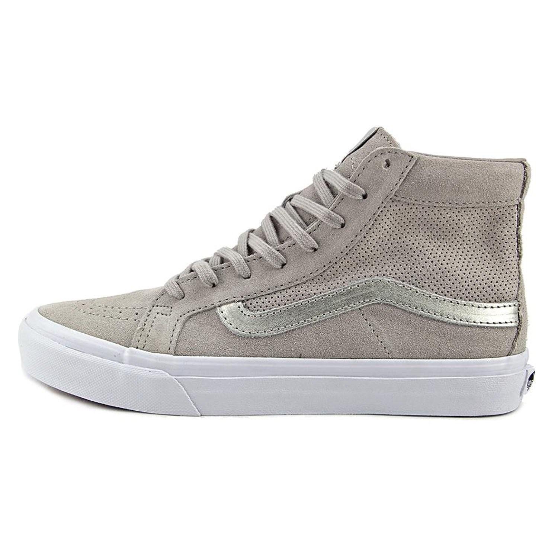 10b54805cf Lyst - Vans Sk8-hi Slim Cutout Mens Silver Suede mesh High Top Grey ...