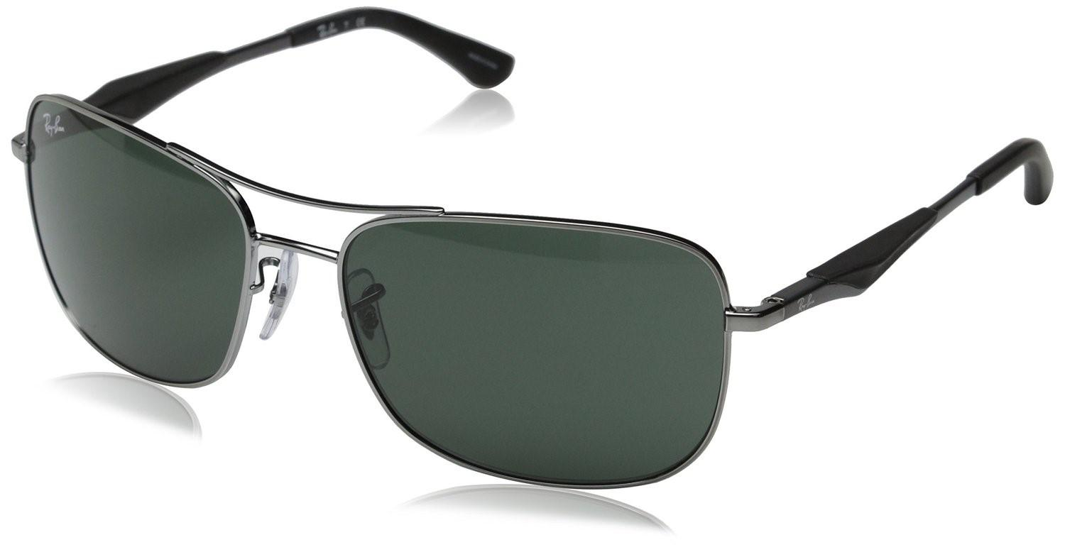 3ab2b73f27 Lyst - Ray-Ban 0rb3515 004 71 61 Gunmetal green Active Lifestyle ...