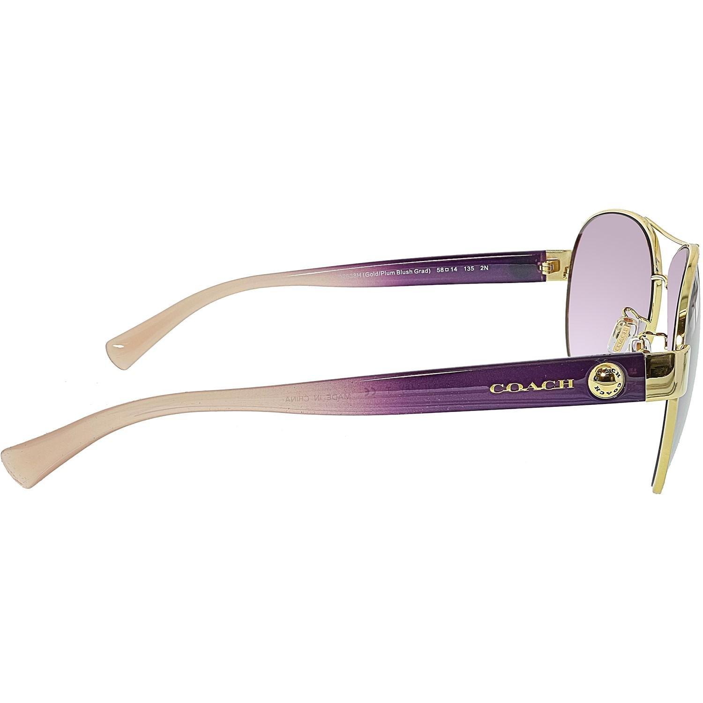 fbf10365ed523 ... official store lyst coach gradient hc7063 92638h 58 gold aviator  sunglasses 21e85 d1fee