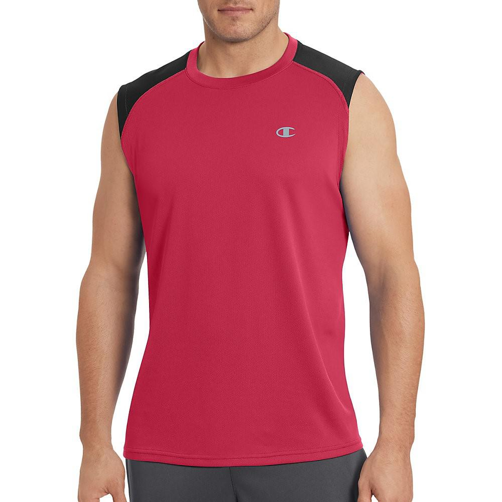 d477fa48a12fb5 Lyst - Champion Vapor Select Muscle Tee-s scarlet black in Red for ...