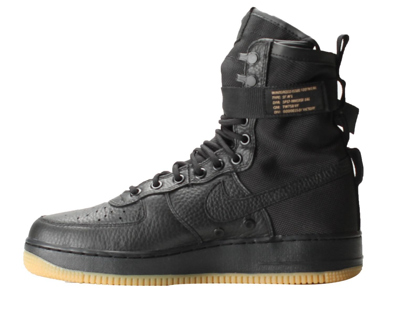 95db54e907d8ab Nike Sf Af1 Air Force 1 Special Field Triple Black gum Shoes 864024 ...
