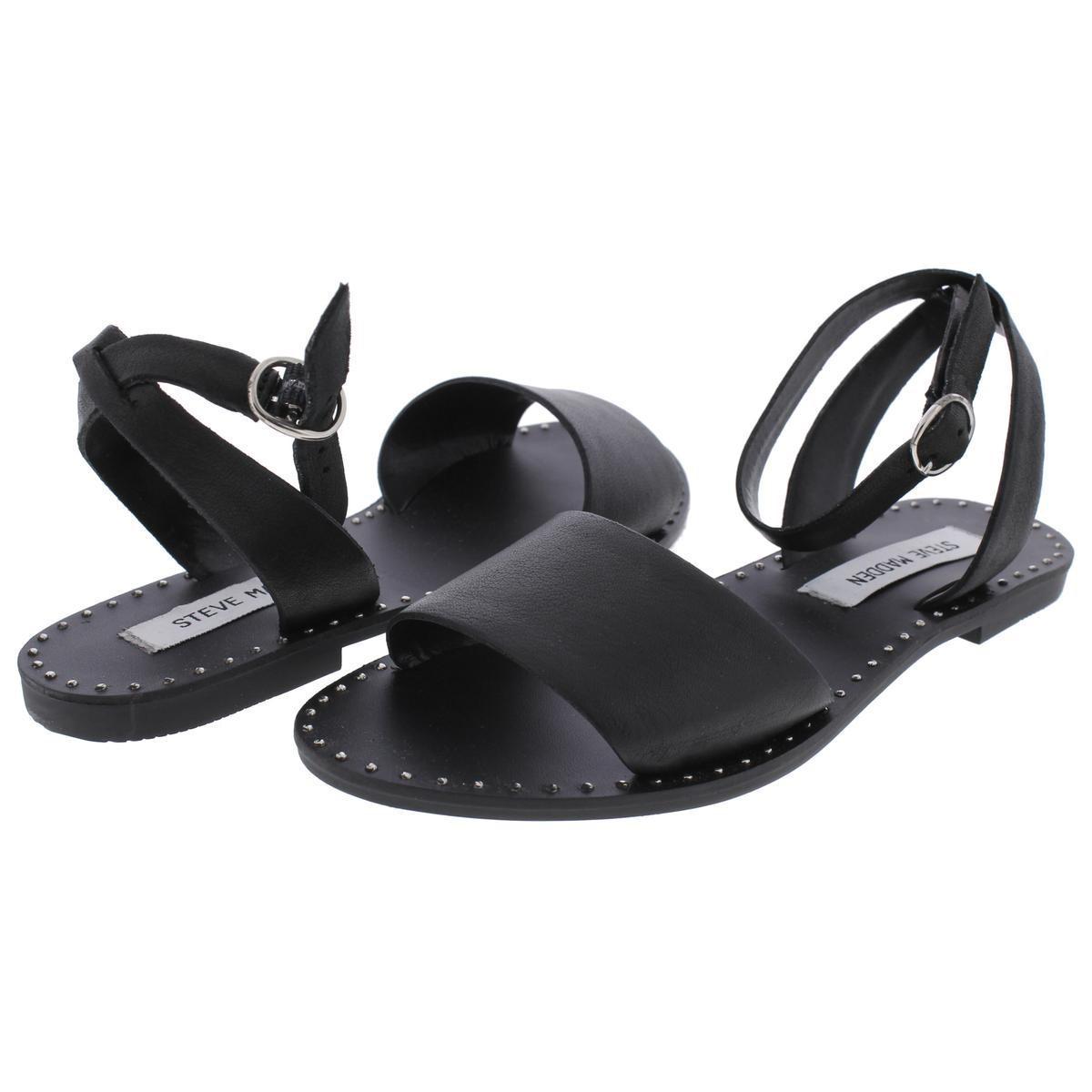 5f2f9c4e724b1 Lyst - Steve Madden Danny Open Toe Studded Flat Sandals in Black