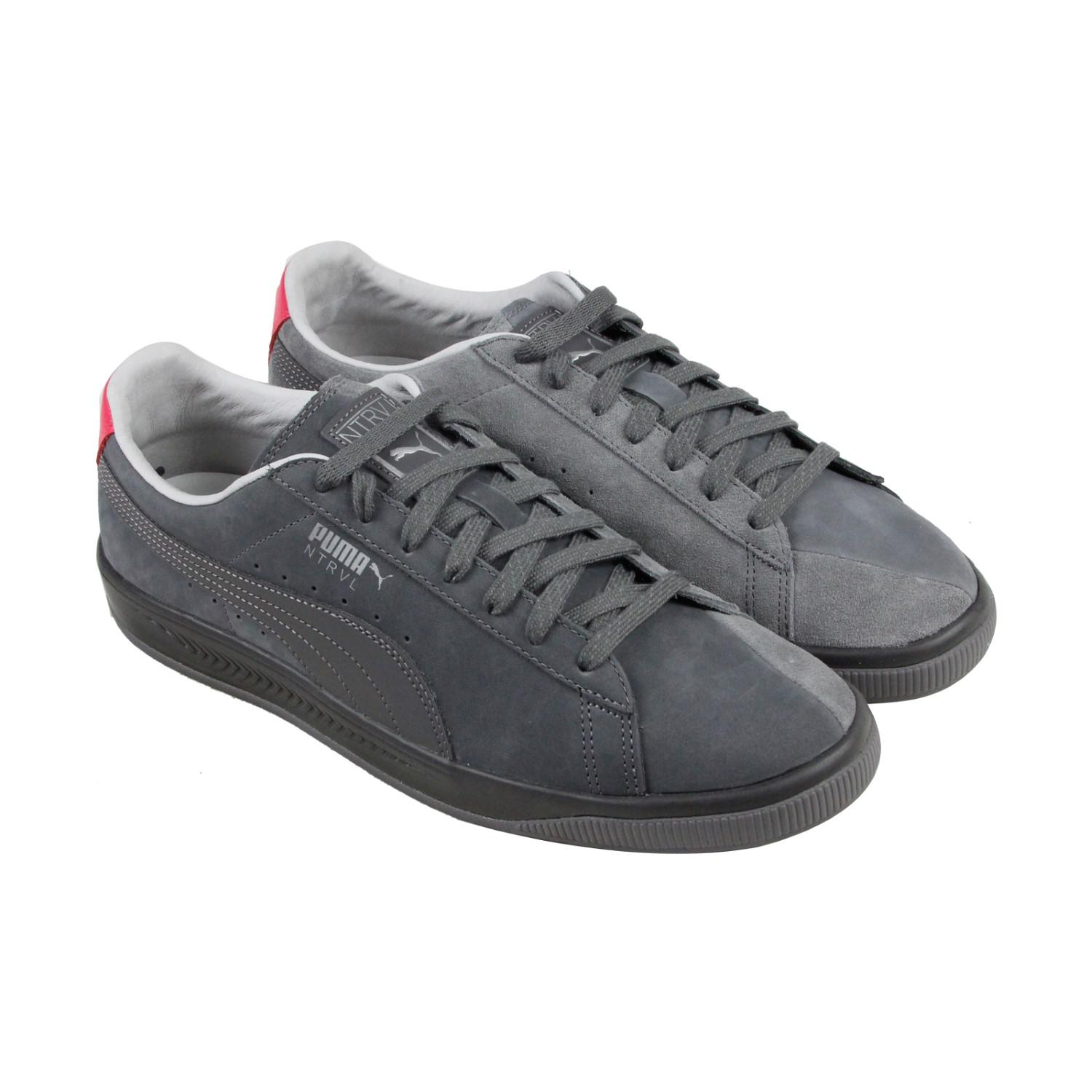 8db7c07d216 Lyst - PUMA Suede Ignite Staple Gray Silver Smoke Pearl Mens Lace Up ...