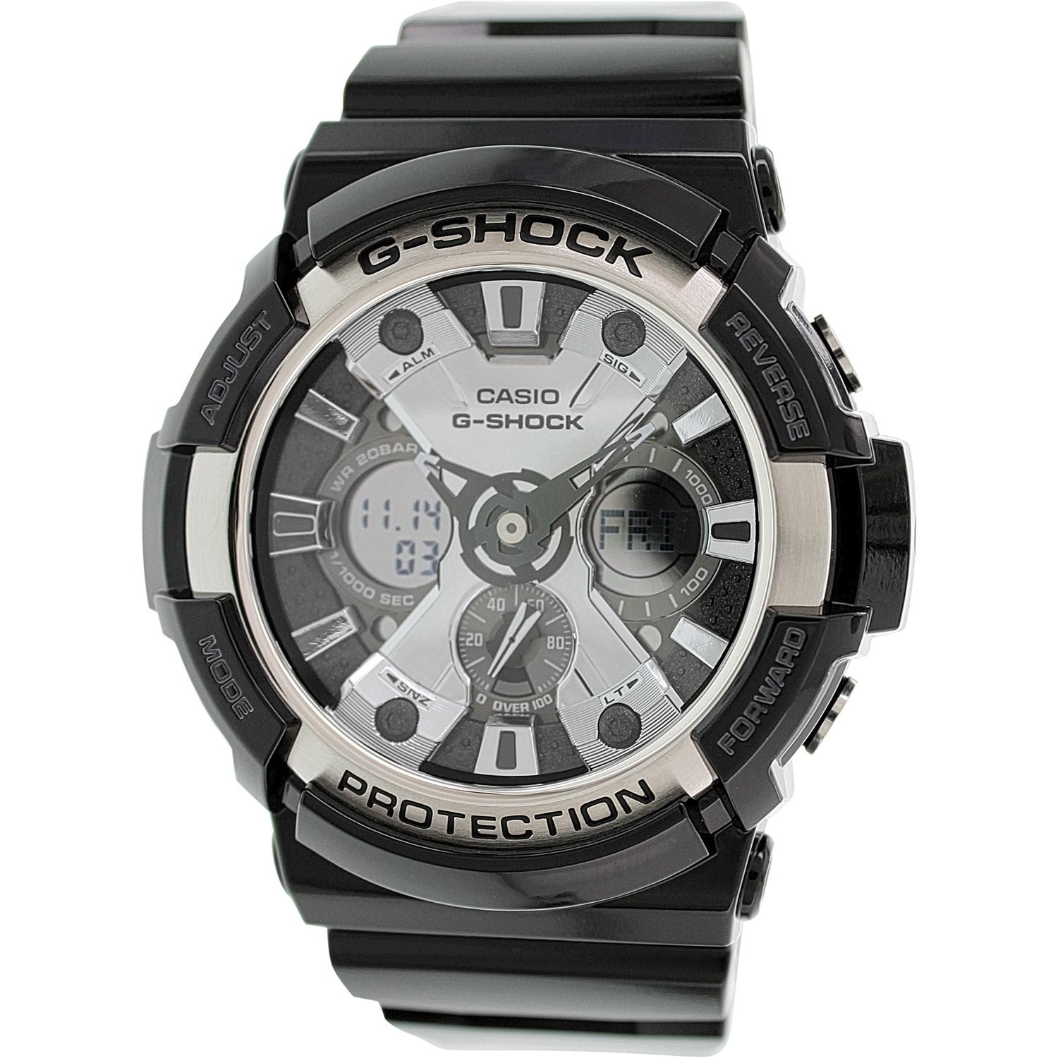 Lyst G Shock Ga200bw 1a Antique Black Resin Quartz Sport Casio Ga 110hr 1adr Gallery