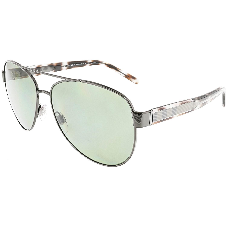 57a2264d349 Lyst - Burberry Be3084-10039a-60 Black Aviator Sunglasses in Metallic