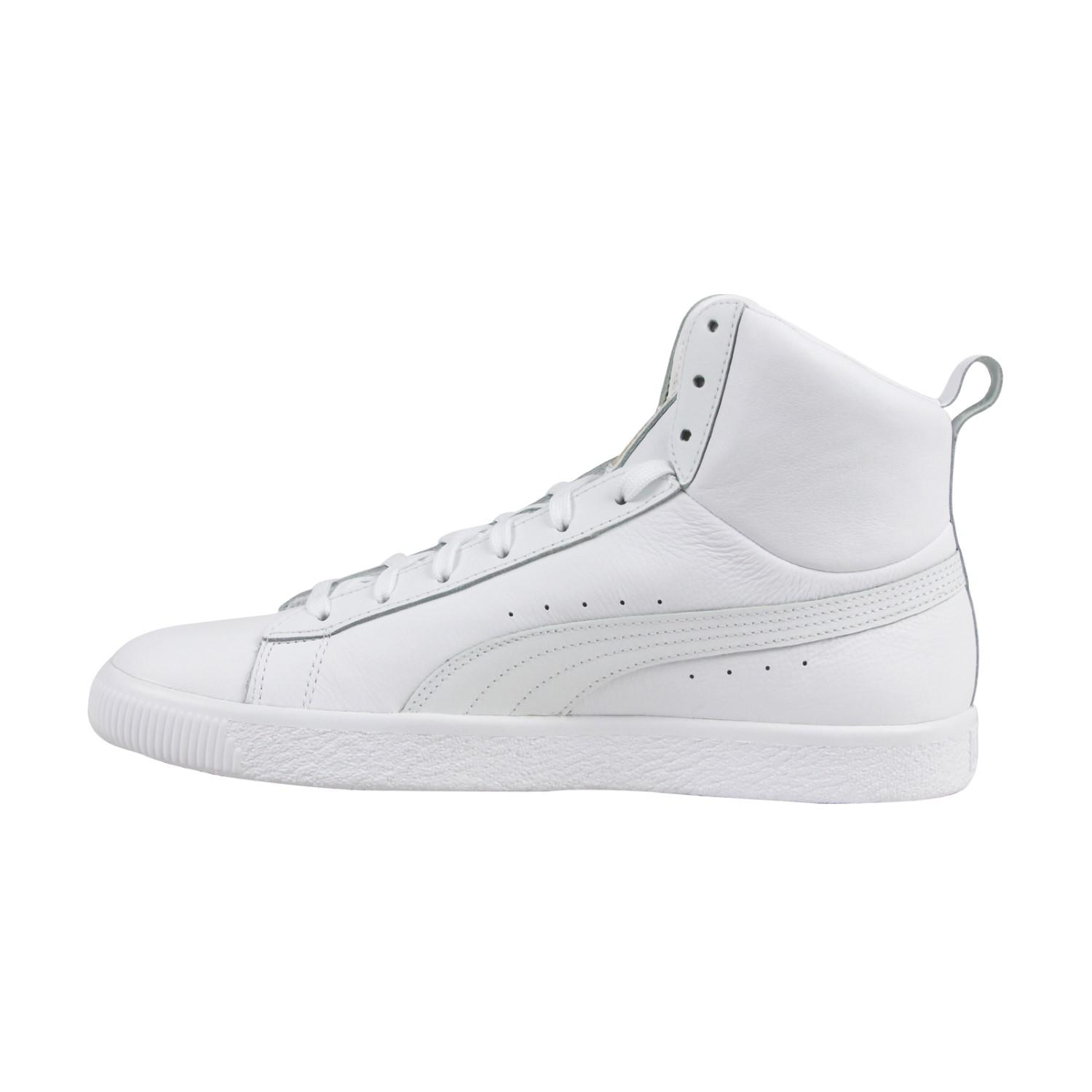 5d32c8230728 Lyst - PUMA Clyde Mid Core Foil White Mens High Top Sneakers in ...