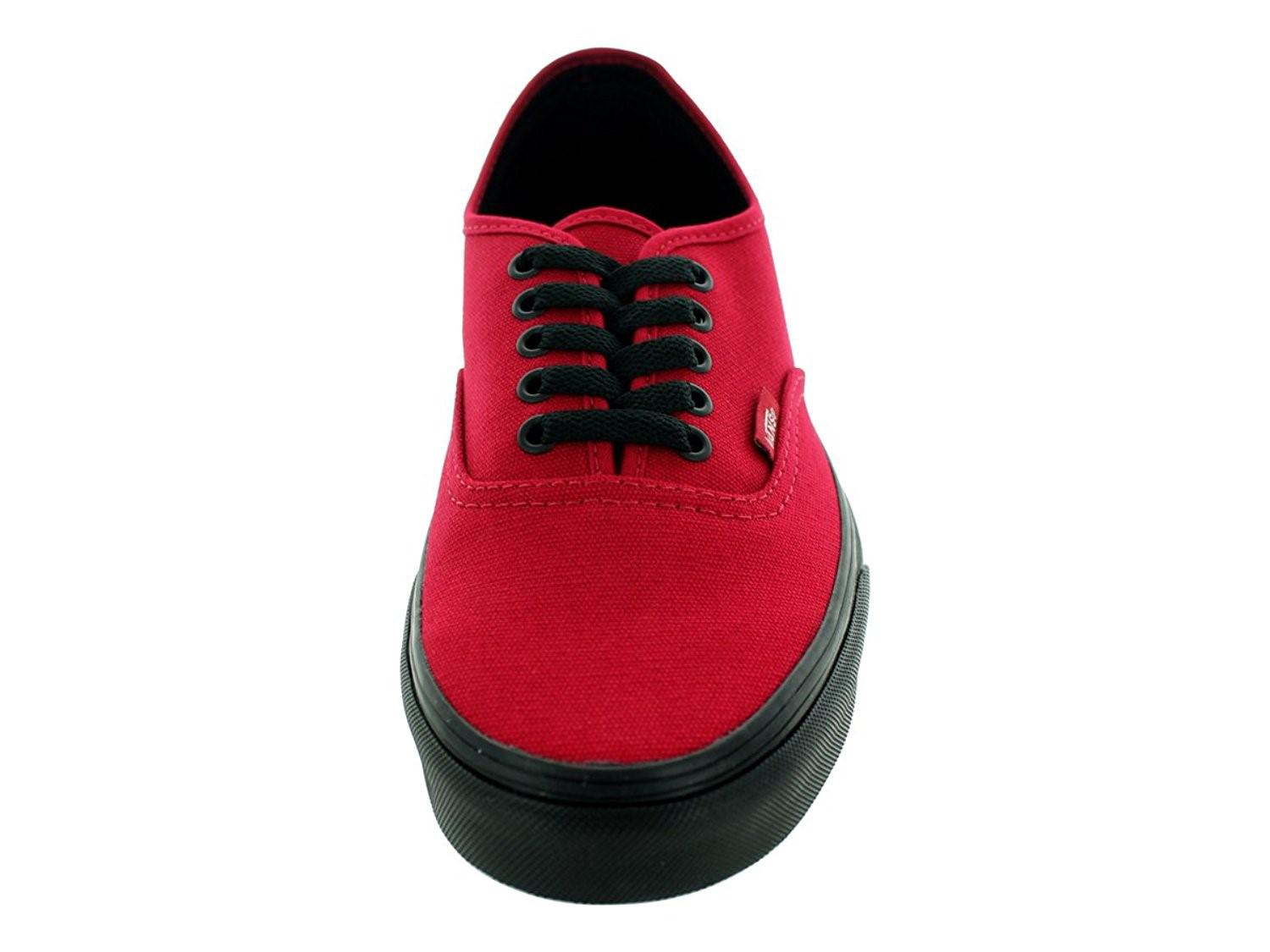 756b49cfa7b393 Vans - Unisex Authentic (black Sole) Jester Red Skate Shoe 10.5 Men Us  .  View fullscreen