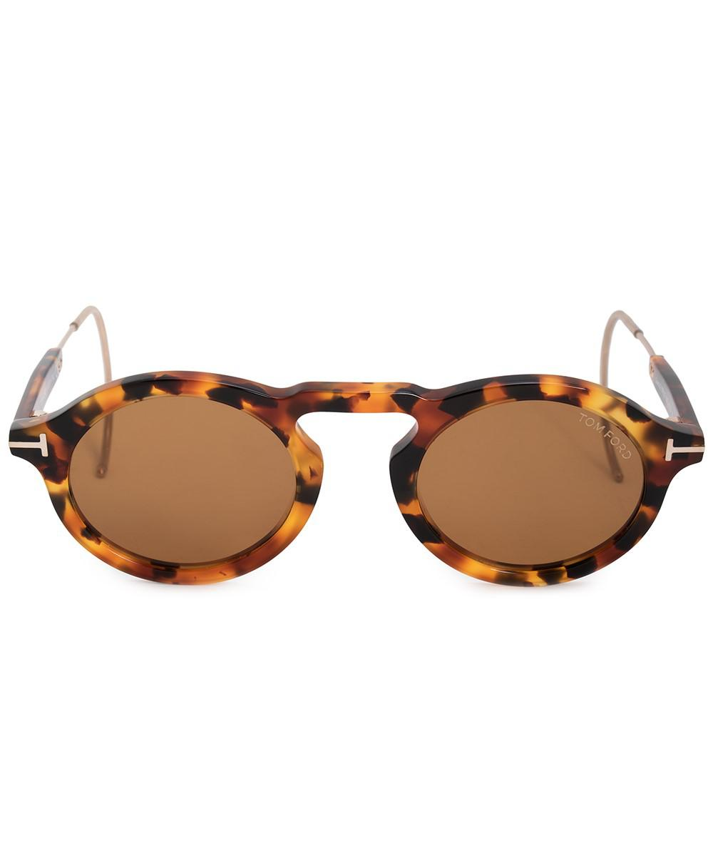 9bd776f29253 Lyst - Tom Ford Grant-02 Oval Sunglasses Ft0632 55e 48 in Brown