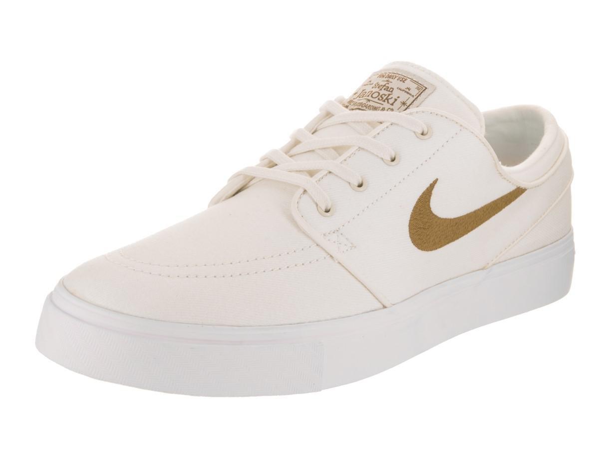 3d461ca6c745 Lyst - Nike Zoom Stefan Janoski Cnvs Sail golden Beige Skate Shoe ...