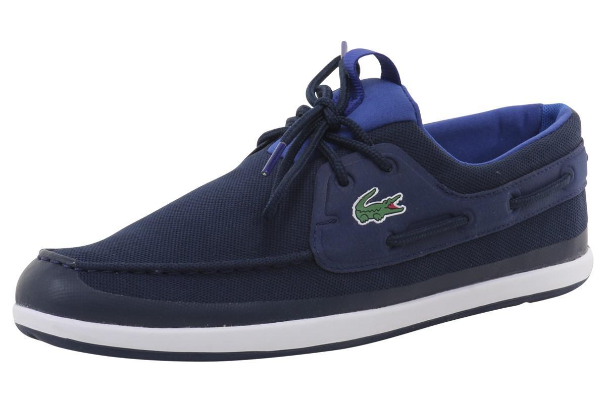 1e303d3e4 Lacoste Footwear Landsailing Navy Trainer Boat Shoes - Style Guru ...