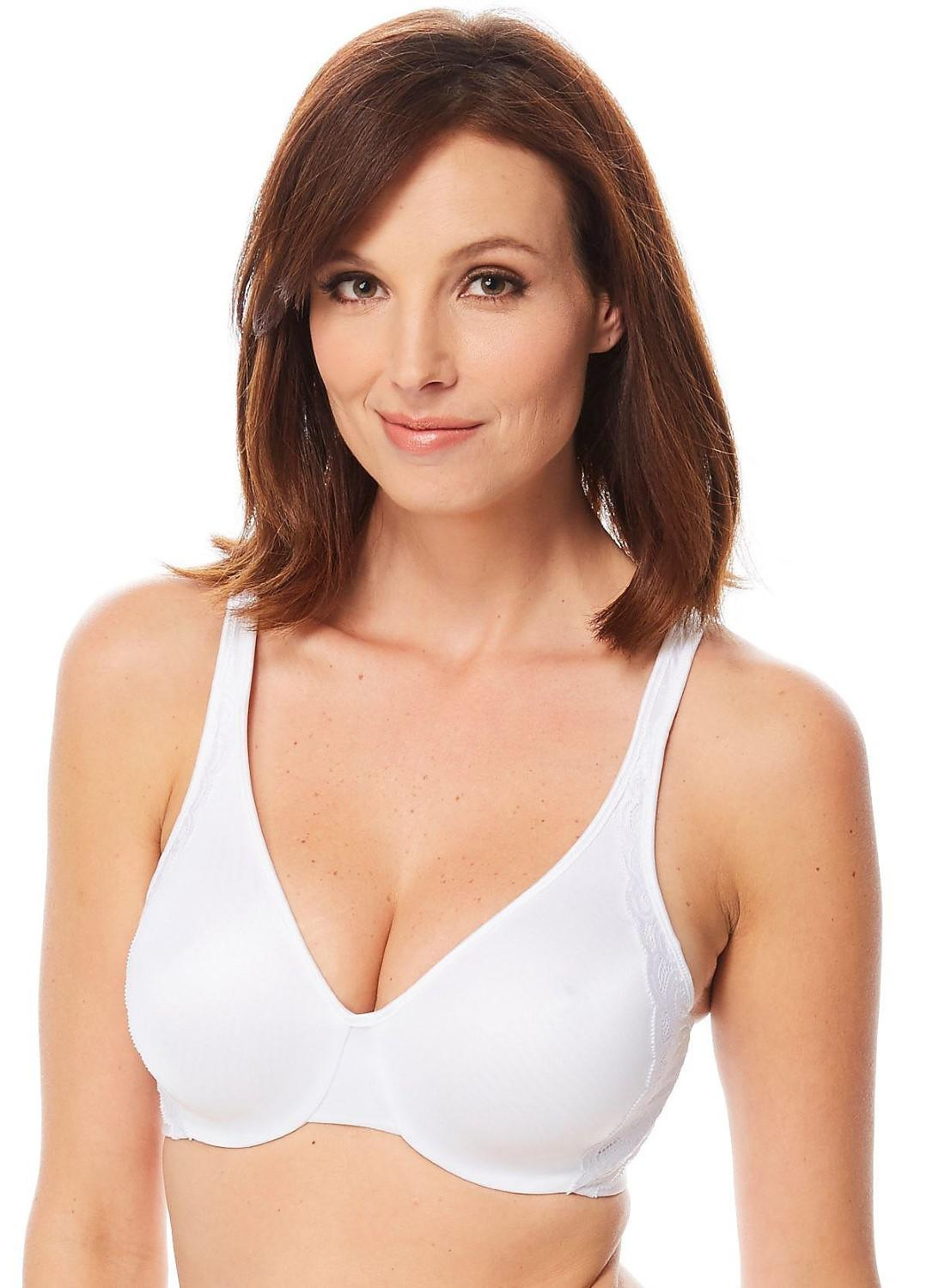 53c073cd2185a Lyst - Bali Df1004 Side Support And Smoothing Minimizer Bra in White
