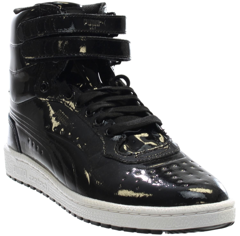471a47c3eb2 Lyst - Puma Sky Ii Hi Patent Emboss in Black