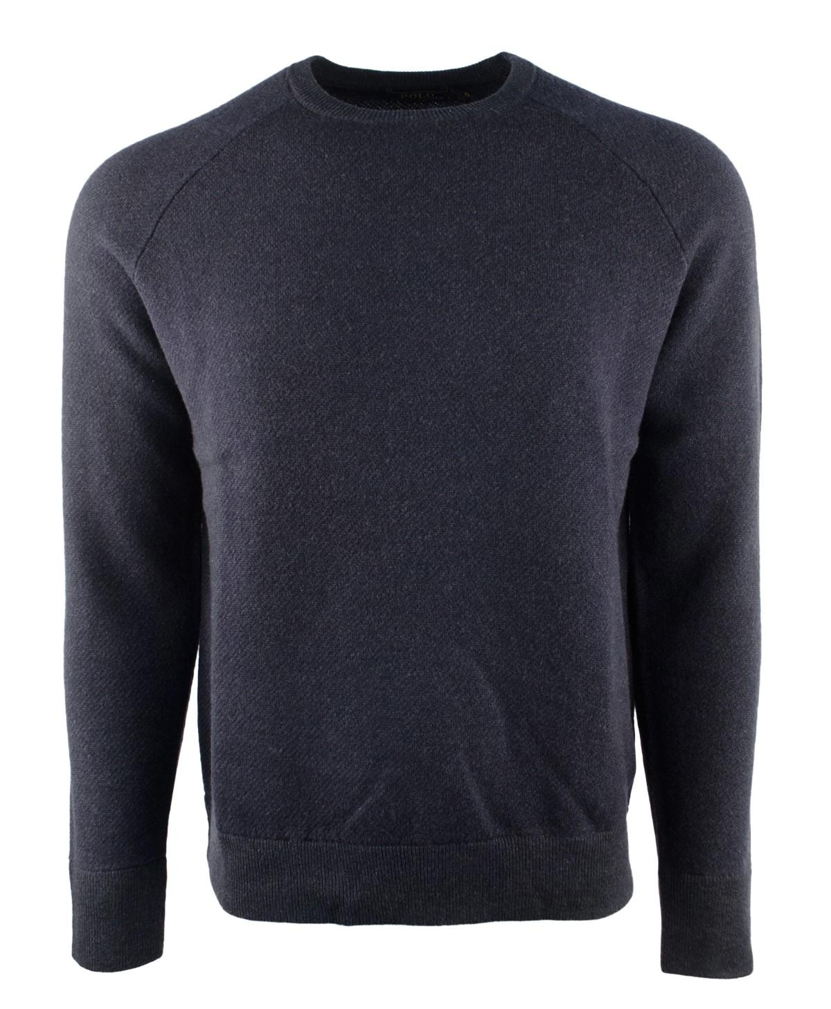 d1203c73af4 Lyst - Polo Ralph Lauren Merino Wool Crewneck Sweater in Blue for Men
