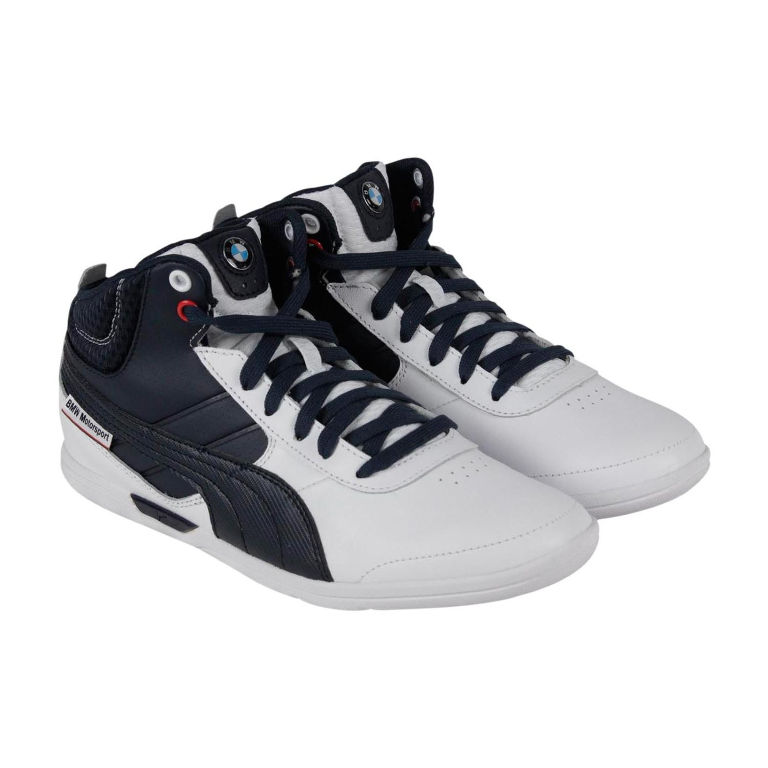 9e4973114bdc Lyst - PUMA Bmw Ms Mch Mid White bmw Team Blue Casual Shoe 8.5 Men ...