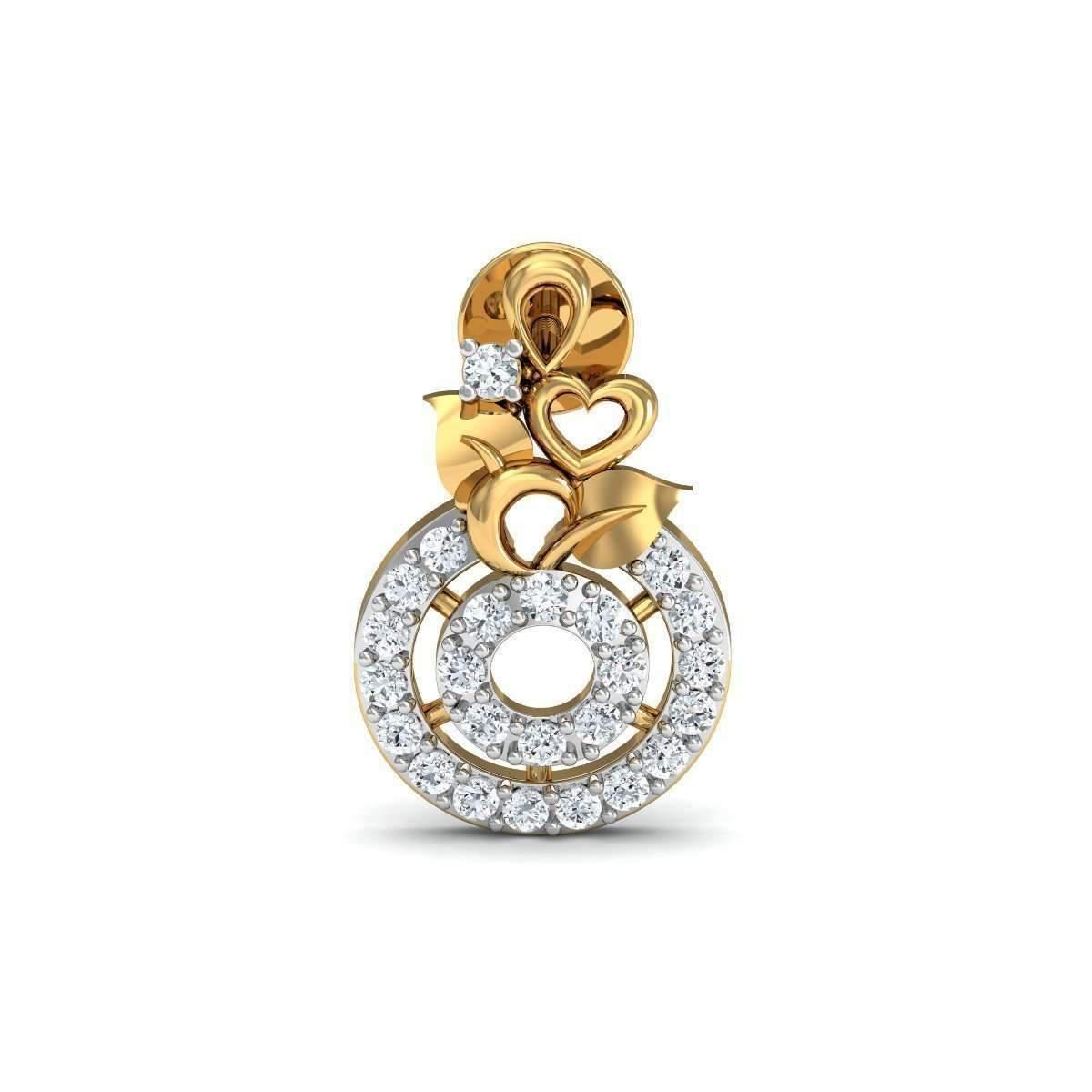 Diamoire Jewels Burgeon Diamond Stud Earrings in 18Kt Yellow Gold Oa0aHJ6