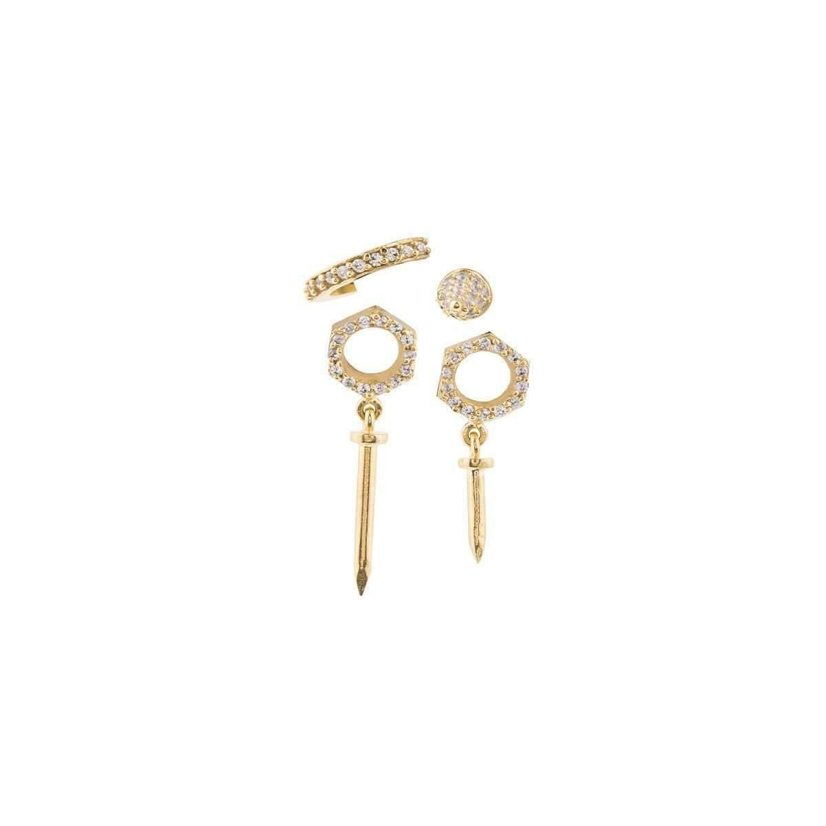 Joanna Laura Constantine Nuts Nails Stud Earrings 7dZmx